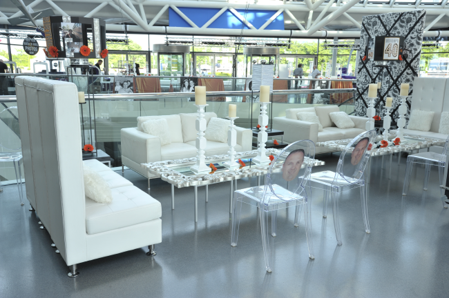 Event Source Furniture In A Different Configuration (high Back, White Sofa,  Ghost Chairs) They Do Not Offer The Table Or Candles $825.00 For Each Set    In ...