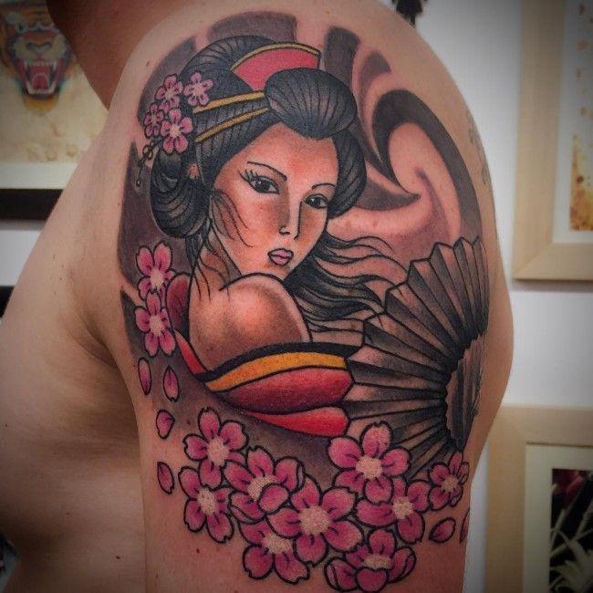 Geisha Tattoos Gueixa Tatuagens Sombreadas E Tatuagens Gueixa