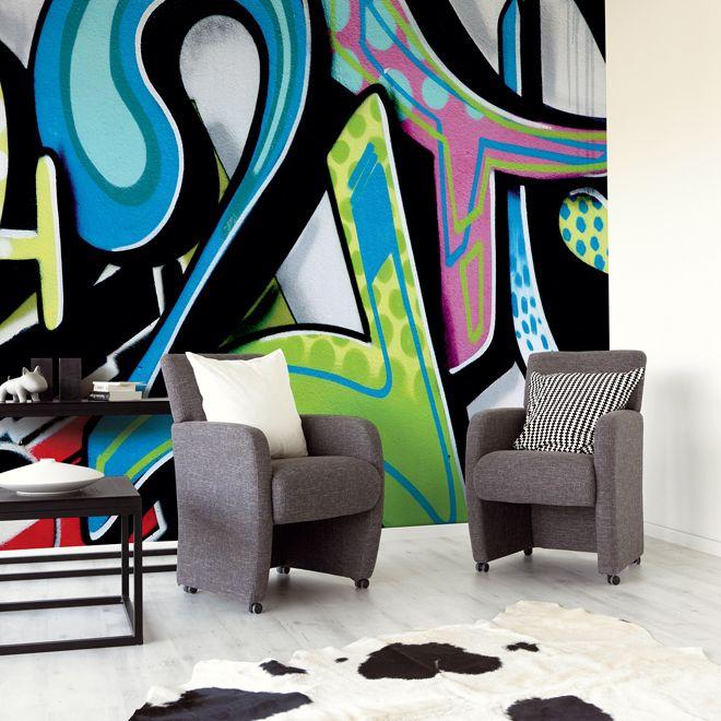 Urban Wall Art 18 gorgeous graffiti wall interior inspirations | graffiti, color