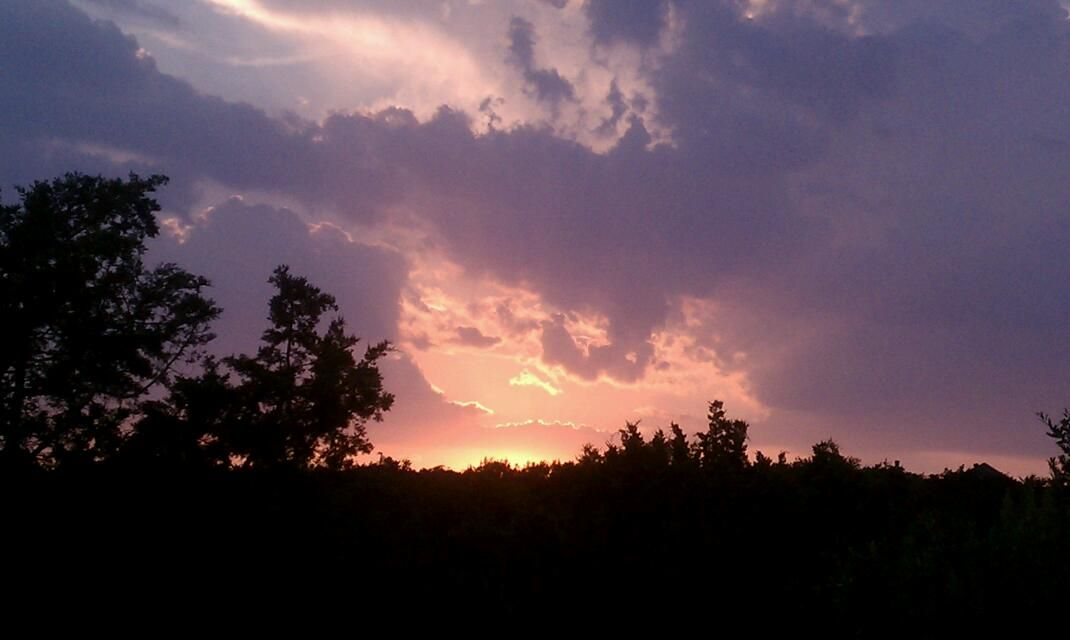 103 degrees ... Gorgeous sunset