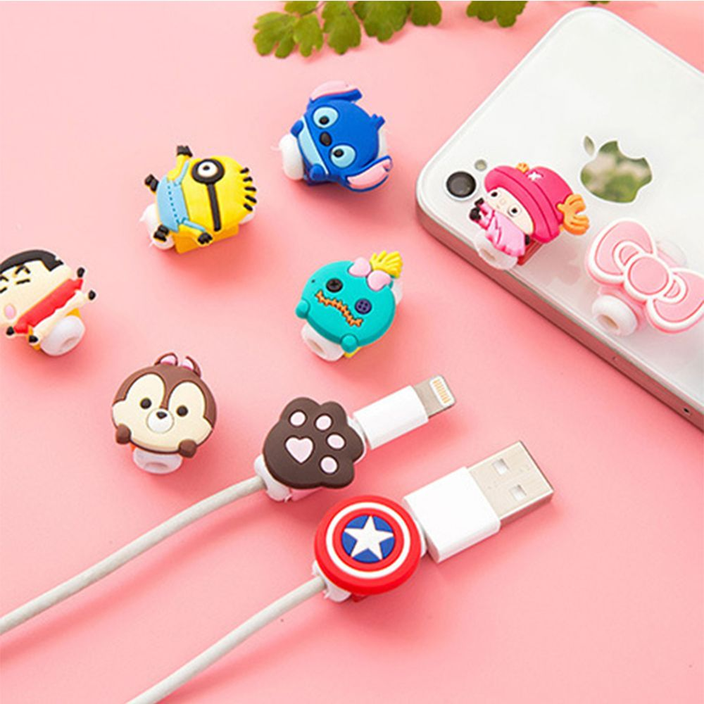 10pcslot cartoon cable protector cord protector protective sleeves cable winder cover for iphone ipad