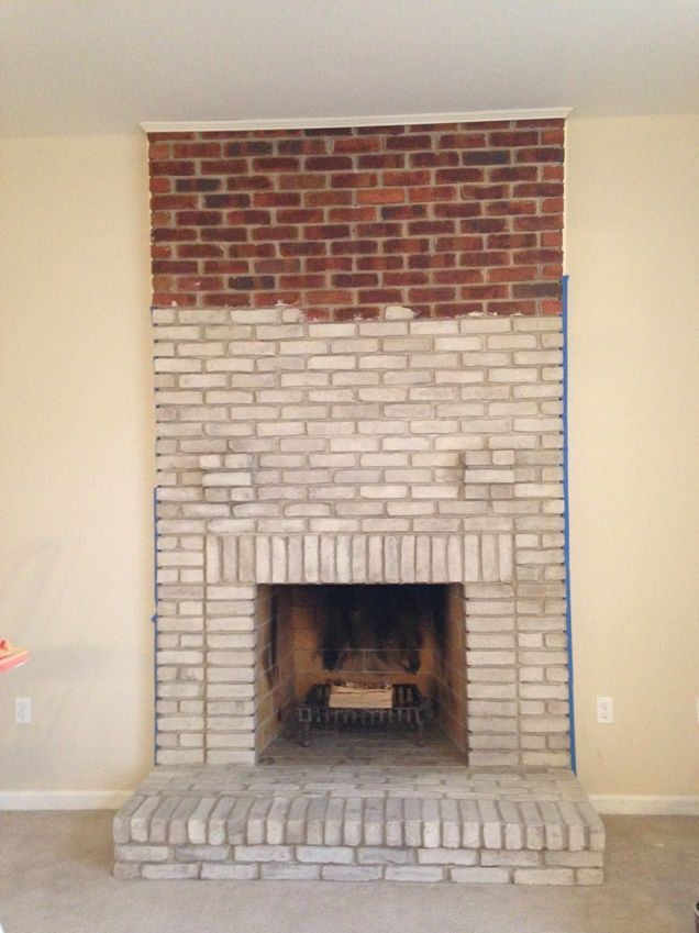 how to how to whitewash stone fireplace : Great tutorial on white washing a brick fireplace. Great option if ...