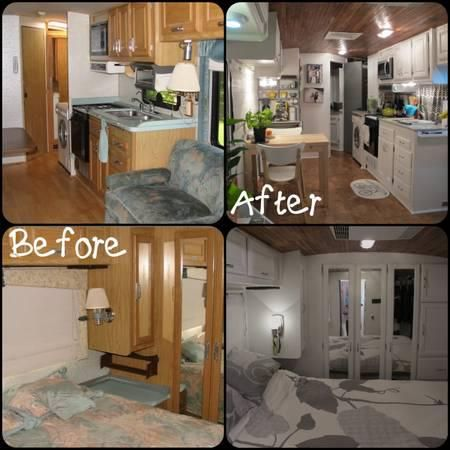rv renovation pictures cute campers relooking caravane. Black Bedroom Furniture Sets. Home Design Ideas