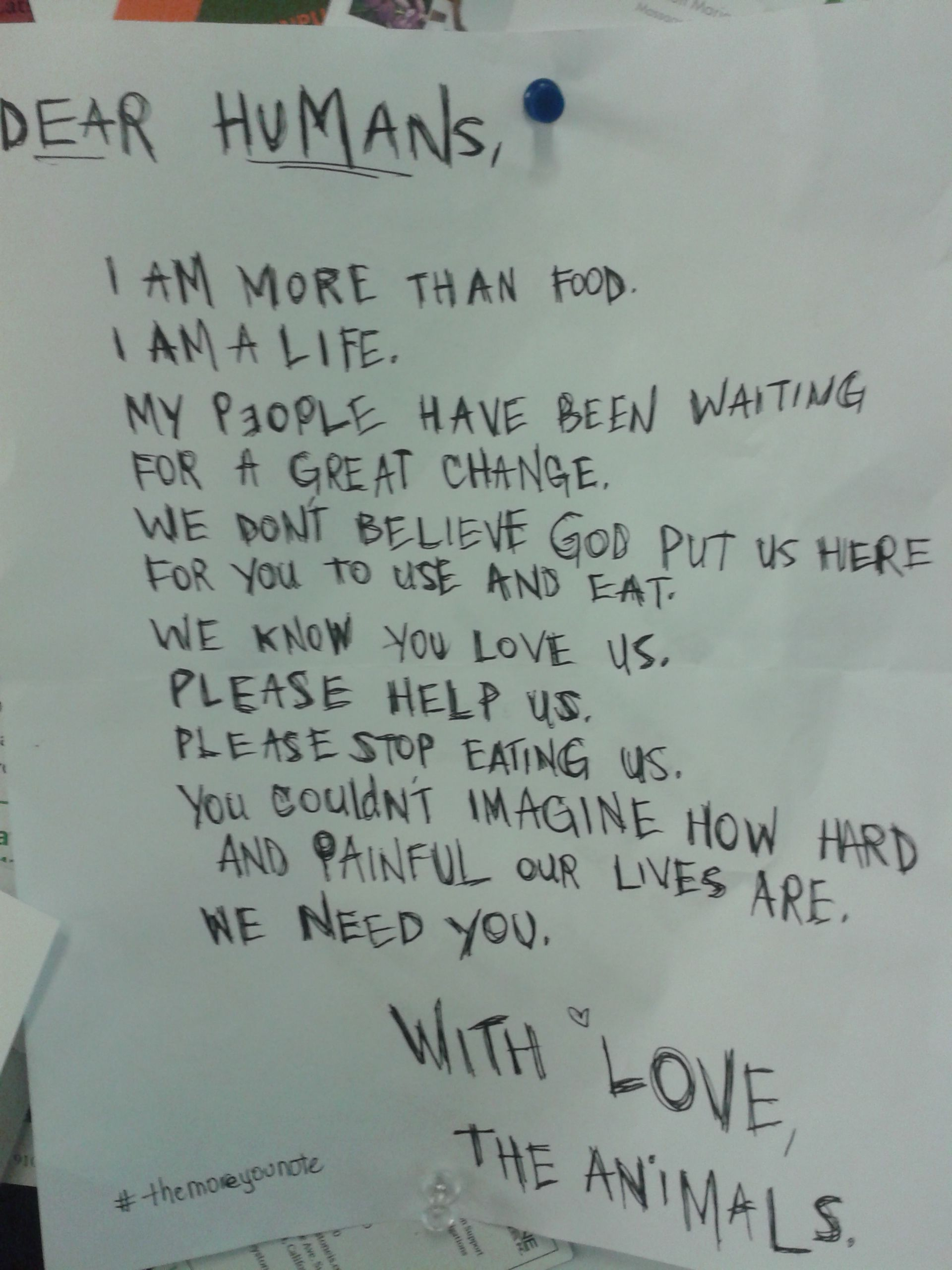 Posted on the bulletin board at Whole Foods Arroyo...