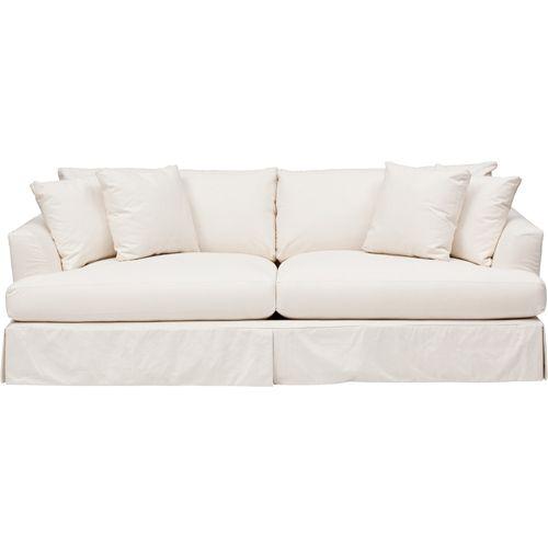 Andre Slipcover Sofa Dyno White Dyno White White Slipcovers