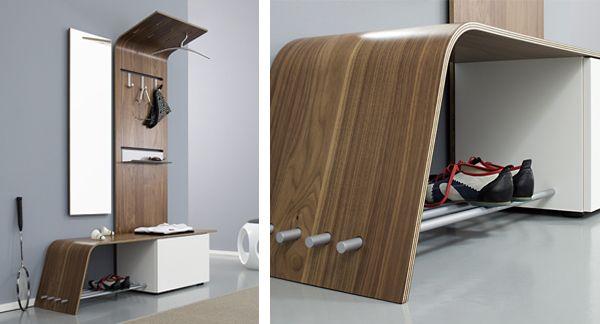 Curved Modular Hallway Furniture Set Elli By Jannis Ellenberger