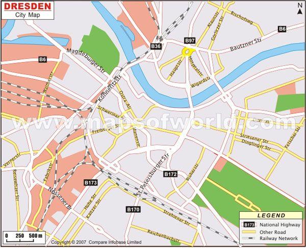 Dresden city map Germany httpwwwmapsofworldcomgermanycities