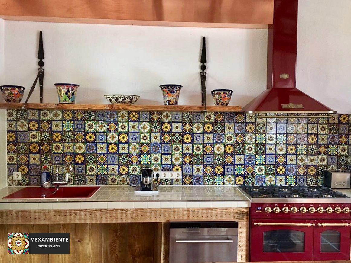 Fliesenspiegel in der kuche ideen mit patchwork mustern for Suche eine gunstige kuche