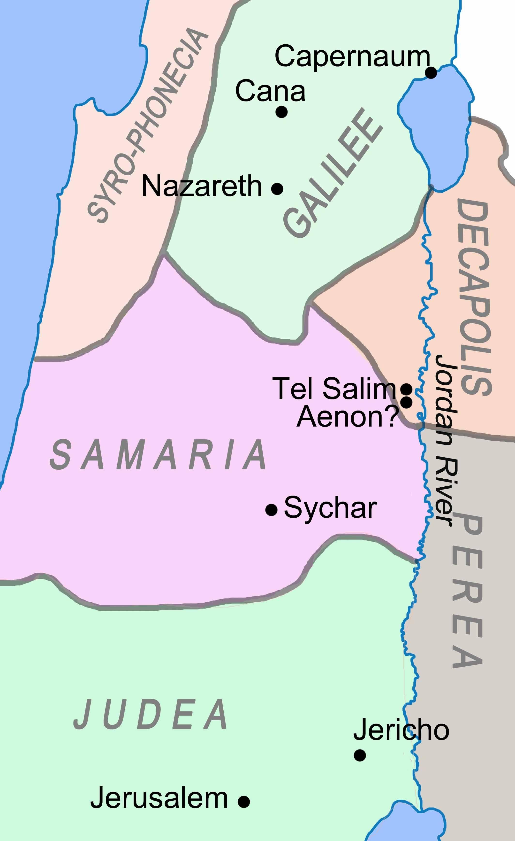 The Samaritan Woman at the Well (John 4:4-26) | Bible Maps and ...