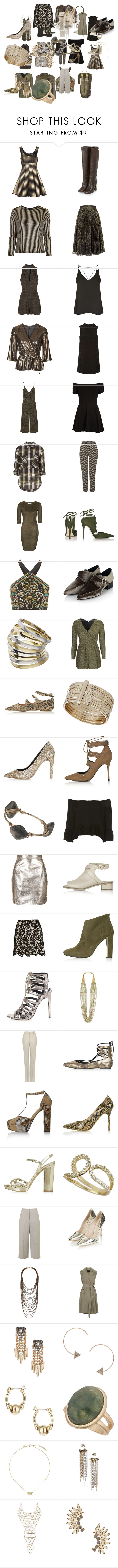 """""""Untitled #2860"""" by luciana-boneca on Polyvore featuring Topshop, Motel, Rare London, Oh My Love and Unique"""