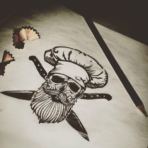 Proximo Tatuaje Muero Por Cocinar Tattoos Tattooarms Skulltattoo Skull Beard Beardsofinstagram Beardsandt Cooking Tattoo Culinary Tattoos Chef Tattoo