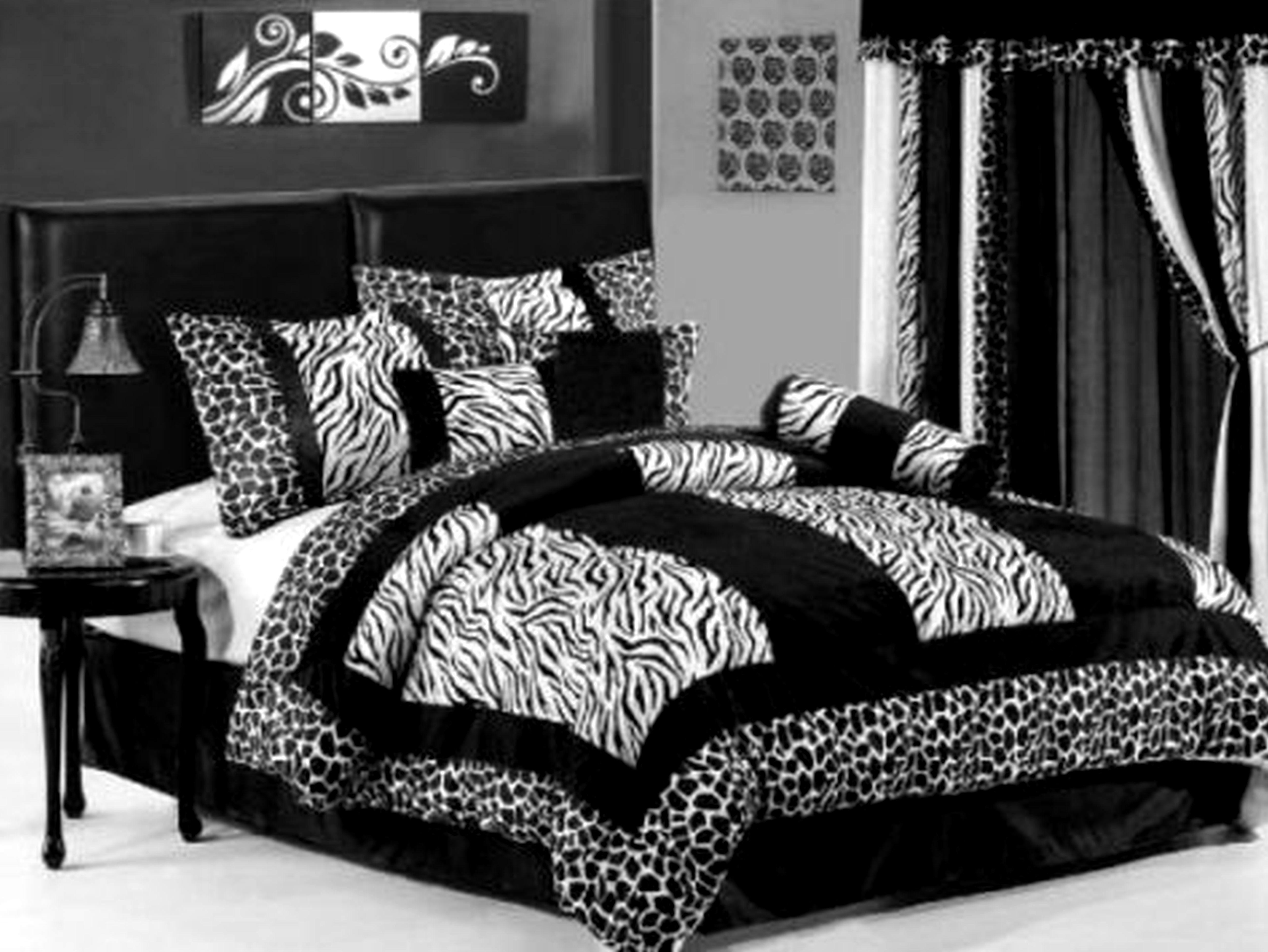 Red And Black Zebra Print Bedroom Ideas