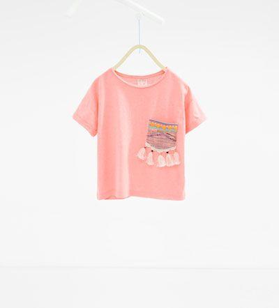 Camiseta bolsillo-Colección-NIÑA | 4 - 14 años-ÚLTIMA SEMANA | ZARA España