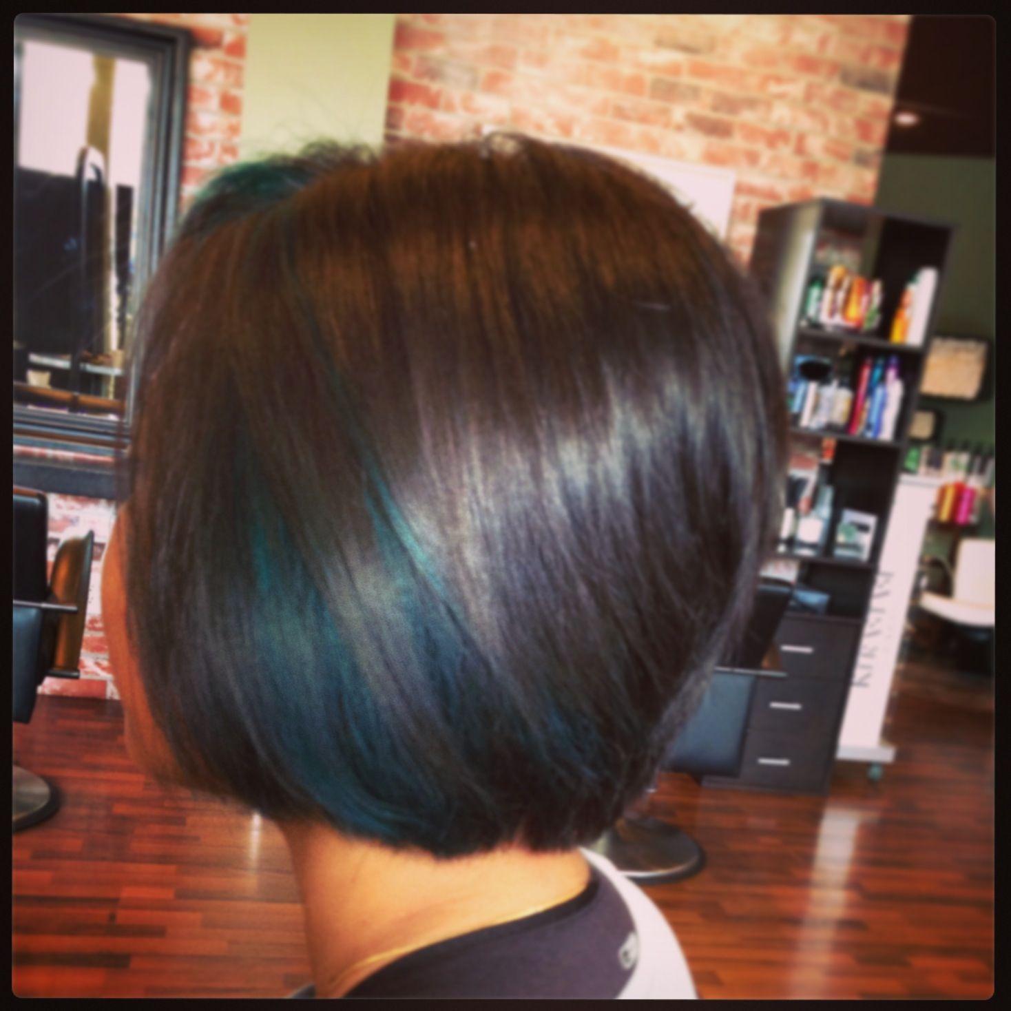 Pin By True A Lori Romero Salon On Slightly Edgy Color Green Hair Hair Short Hair Highlights