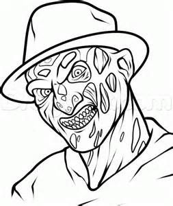 Scary Horror Coloring Pages Bing Images Scary Drawings Horror Drawing Freddy Krueger Art