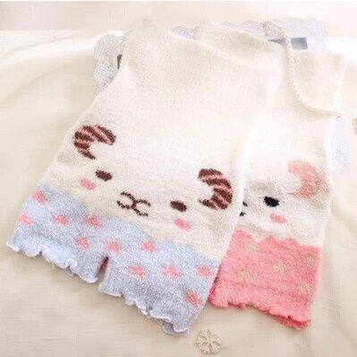 Soft high waisted shorts warm feather yarn cute cartoon lamb shorts Free shipping