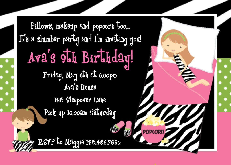 Printable Birthday Sleepover Invitations InviteTown kid stuff