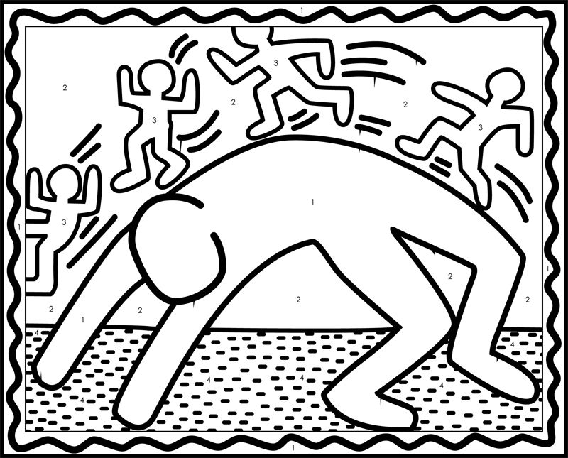 Haring Activity Page By Bigfelipe Jpg 800 645 Keith Haring Pop Art For Kids Coloring Pages