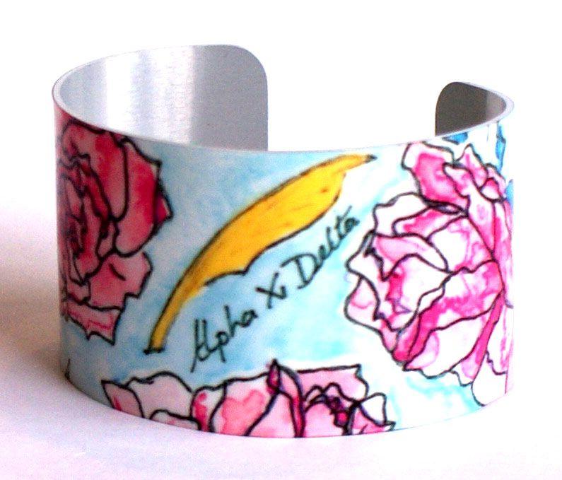 Alpha Xi Delta Cuff Bracelet