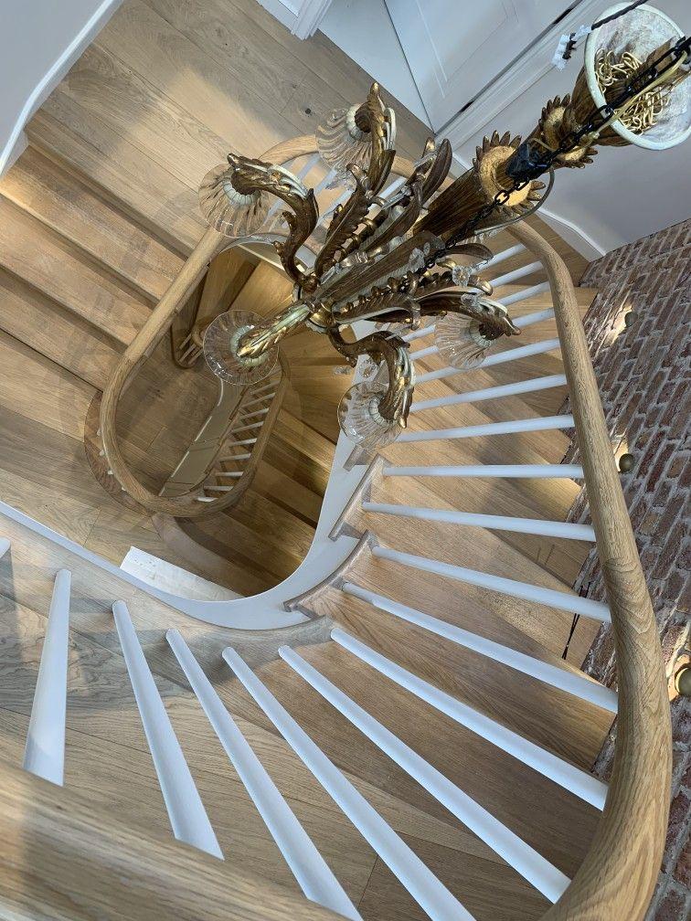Bespoke oak spiral staircase