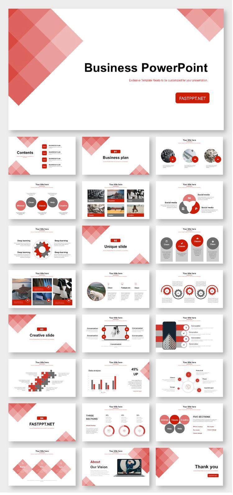 Business Plan Report PowerPoint Template