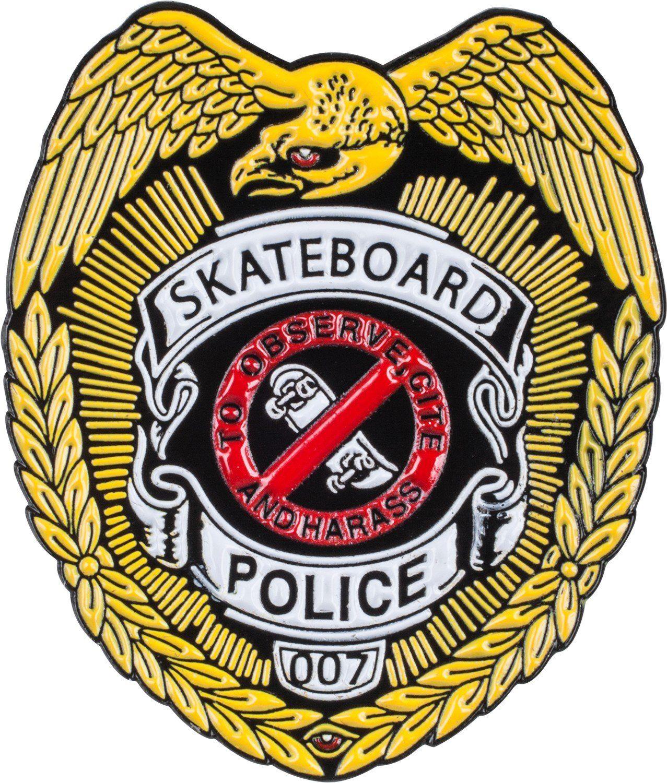 Powell Peralta Skateboard Police Badge Enamel Lapel Pin Lapel Pins Badge Skateboard