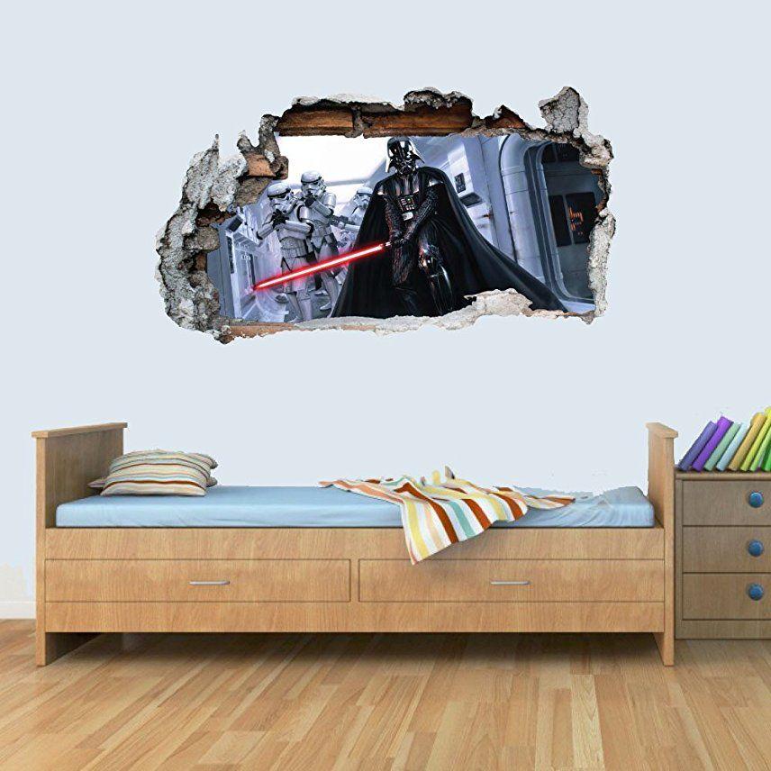 Amazon Uk 3d Wall Sticker Sticker Art Star Wars Wall Decal
