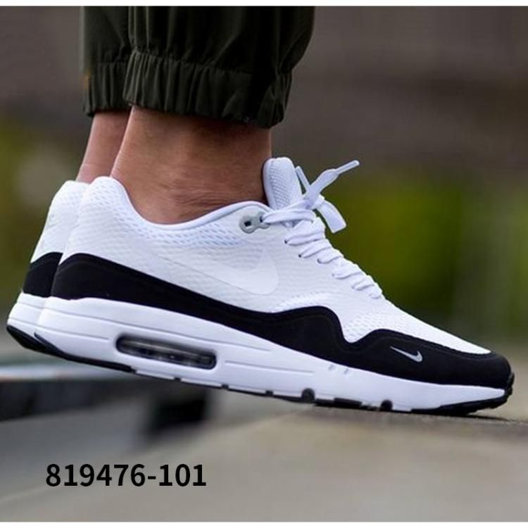 best sneakers 6d8e8 daa3f NIKE AIR MAX 1 ULTRA ESSENTIAL WHITE BLACK WOLF GREY 819476 101