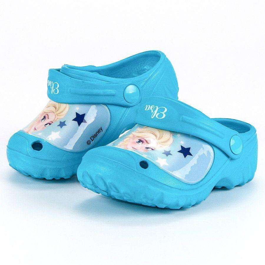 Klapki Dla Dzieci Butymodne Niebieskie Gumowe Klapki Kraina Lodu Butymodne Baby Shoes Fashion Shoes