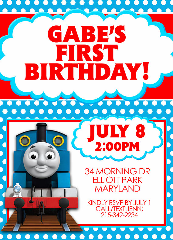Thomas the Train Thomas and Friends Party Invitation – Thomas the Train Birthday Party Invitations