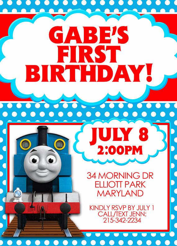 Thomas the Train Thomas and Friends Party Invitation – Thomas the Tank Engine Party Invites