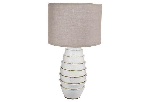 Milk Flaked Table Lamp, White on OneKingsLane.com