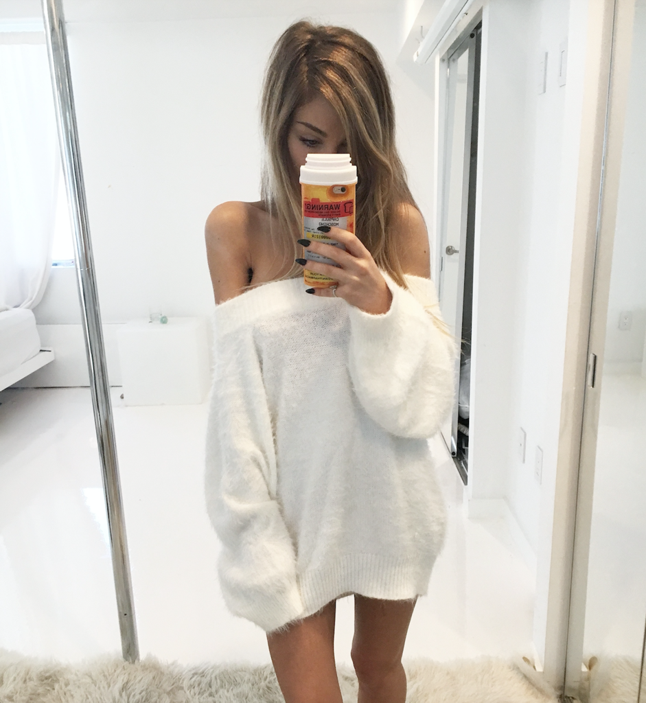 off the shoulder sweater, made of snuggly and fluffy faux angora ...