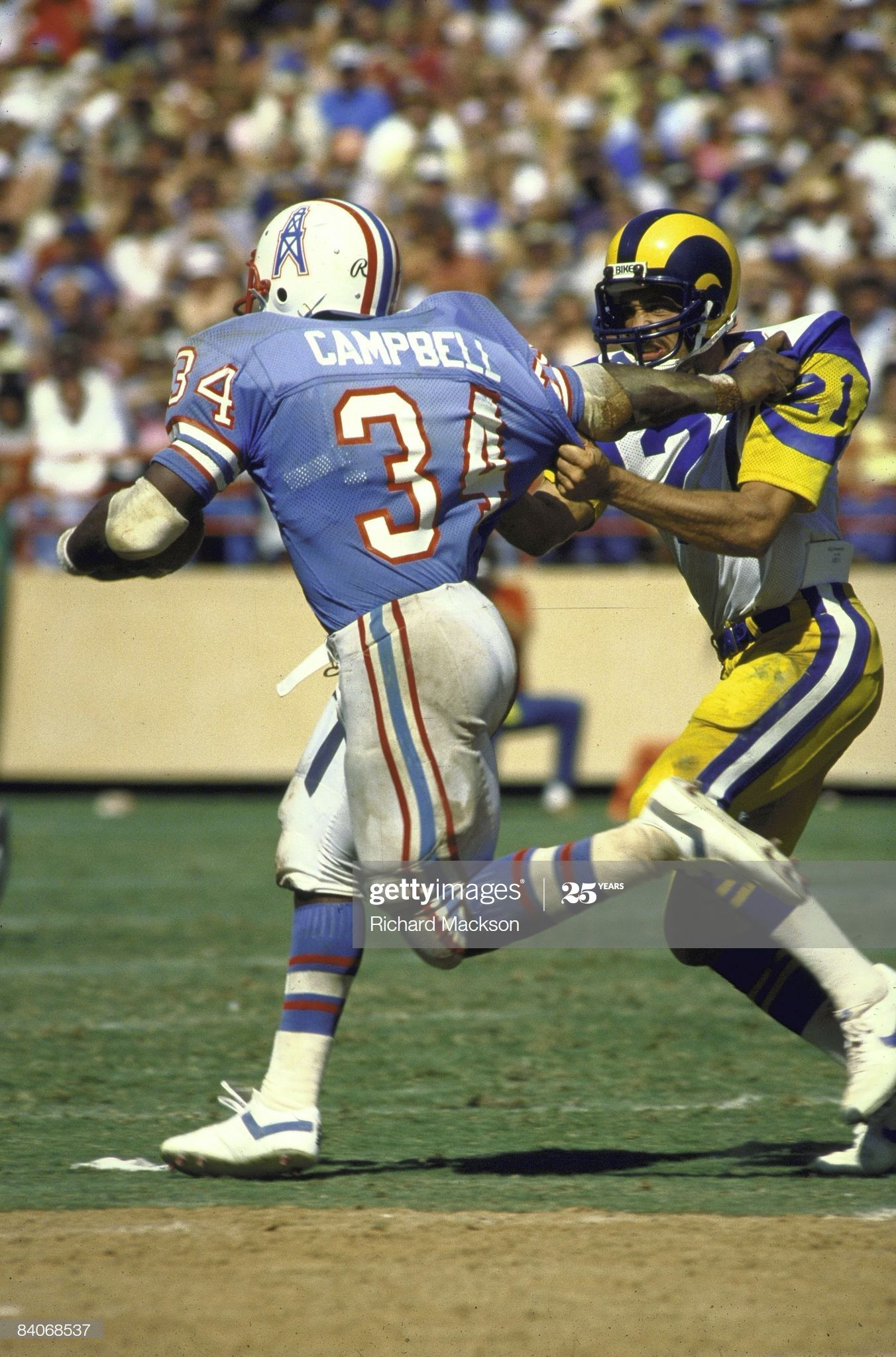Houston Oilers Earl Campbell In Action Rushing Vs Los Angeles Rams In 2020 Houston Oilers Earl Campbell Nfl History