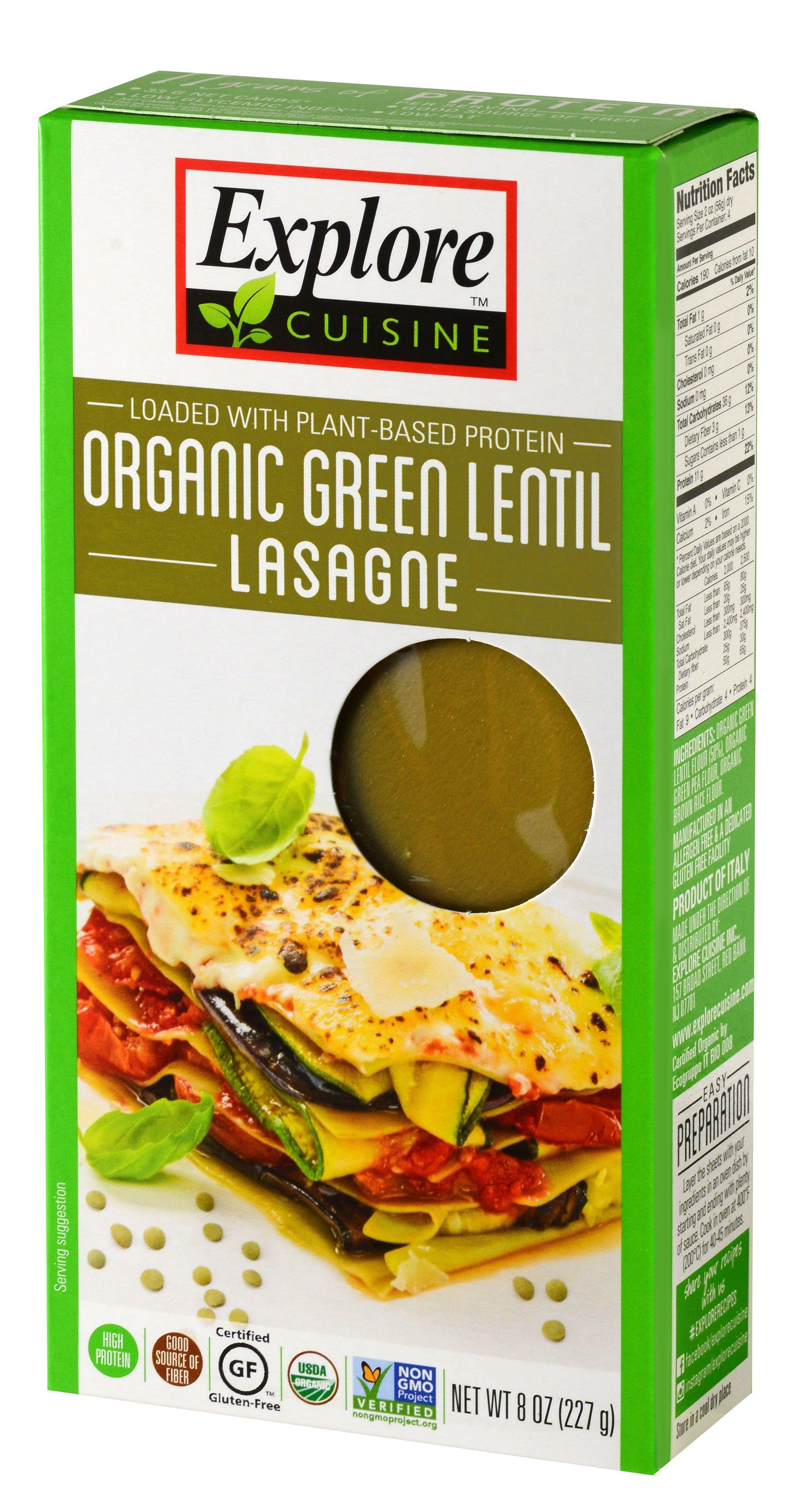 Organic Green Lentil Lasagna Organic Pulse Pastas In 2019