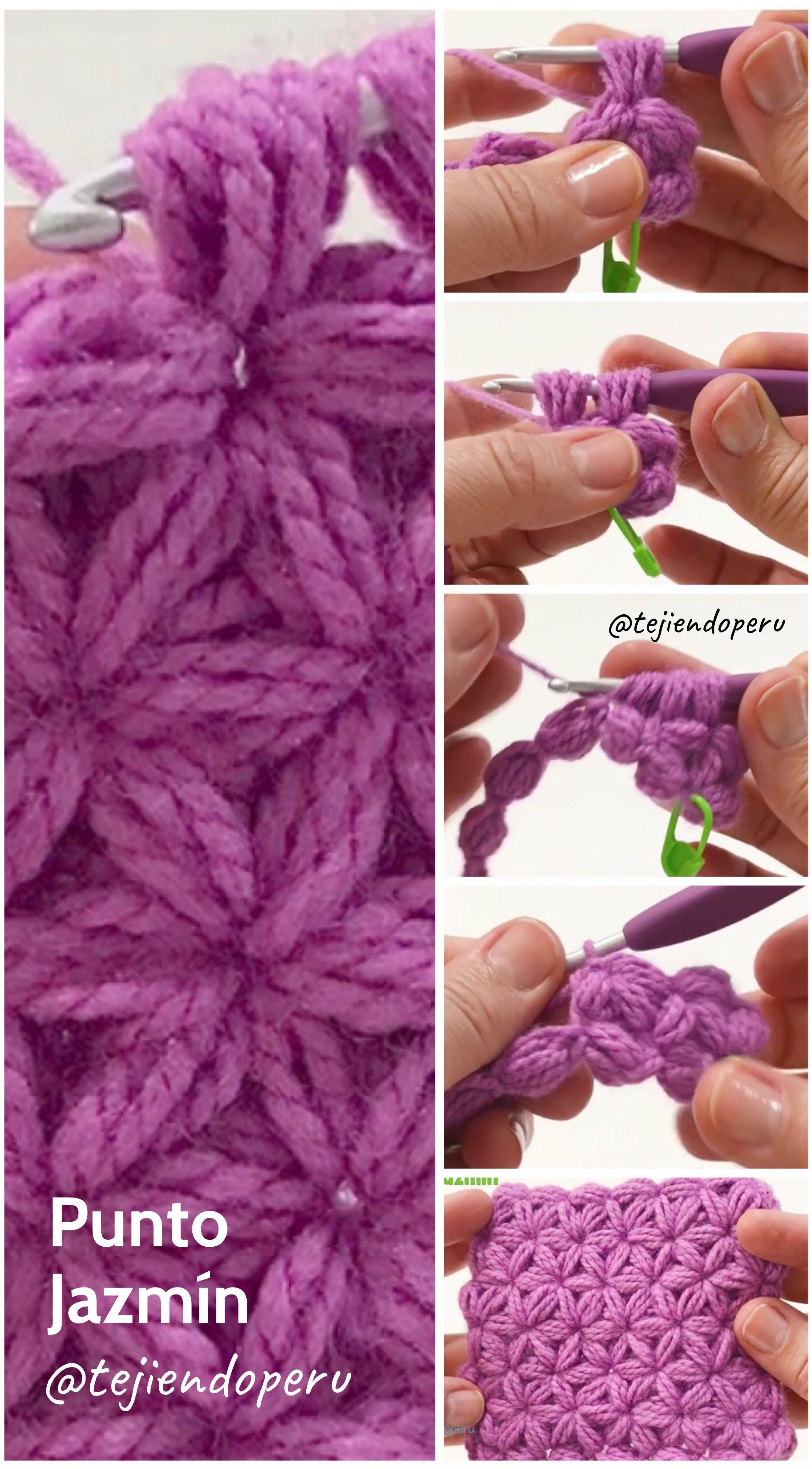 Punto Jazmín O Estrella Doble Tejido A Crochet Video Tutorial Del Paso A Paso Monederos Tejidos A Crochet Punto Jazmin Tejidos A Crochet
