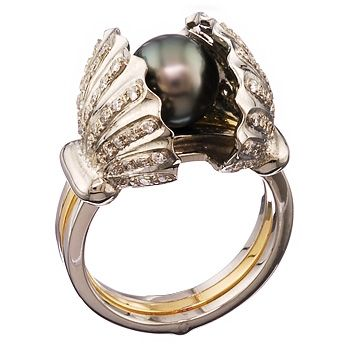 Shy Black Pearl Ring Here S A Beautiful Called I Really Like How The Shines Whole Definitely