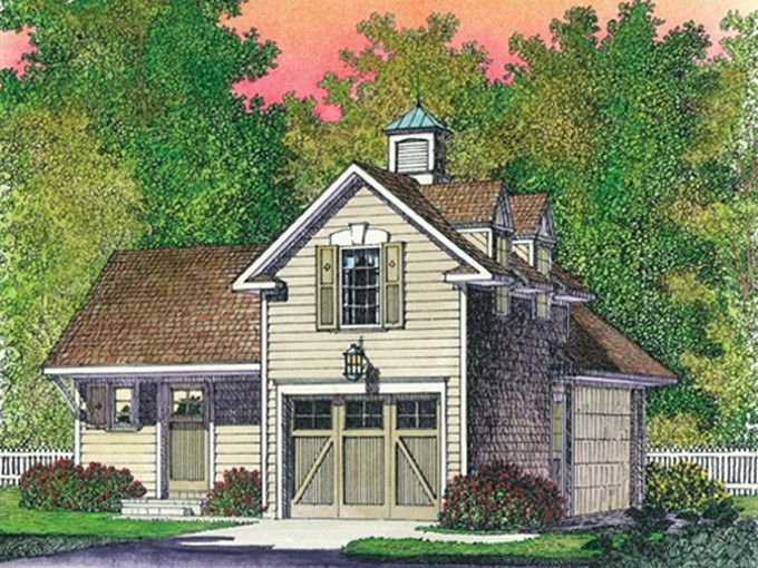 Colonial Style House Plan 0 Beds 0 5 Baths 462 Sq Ft Plan 1016 103 Carriage House Plans Garage Guest House Colonial Cottage