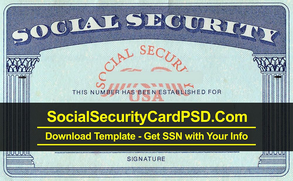 Social Security Card Psd Template Collection 2020 Pertaining To Blank Social Security Card Te Id Card Template Social Security Card Business Card Template Word