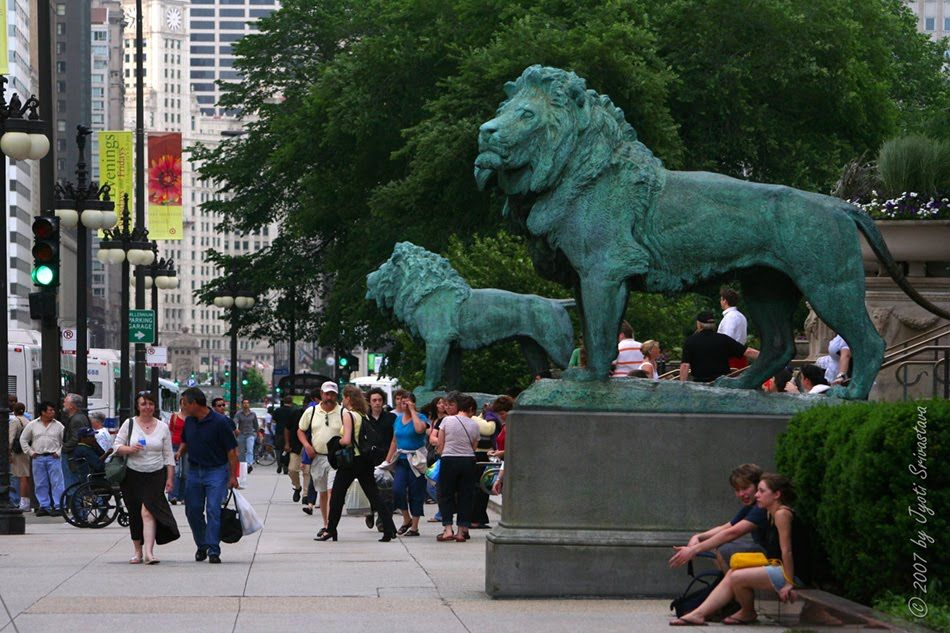 The Art Institute of Chicago: AIC: [The Lions - by Edward Kemeys]