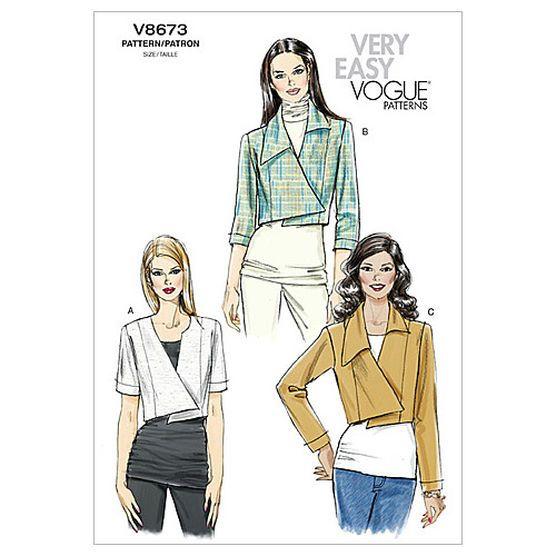 Mccall Pattern V8673 Aa (6-8-10-Vogue Pattern | Vogue patterns ...