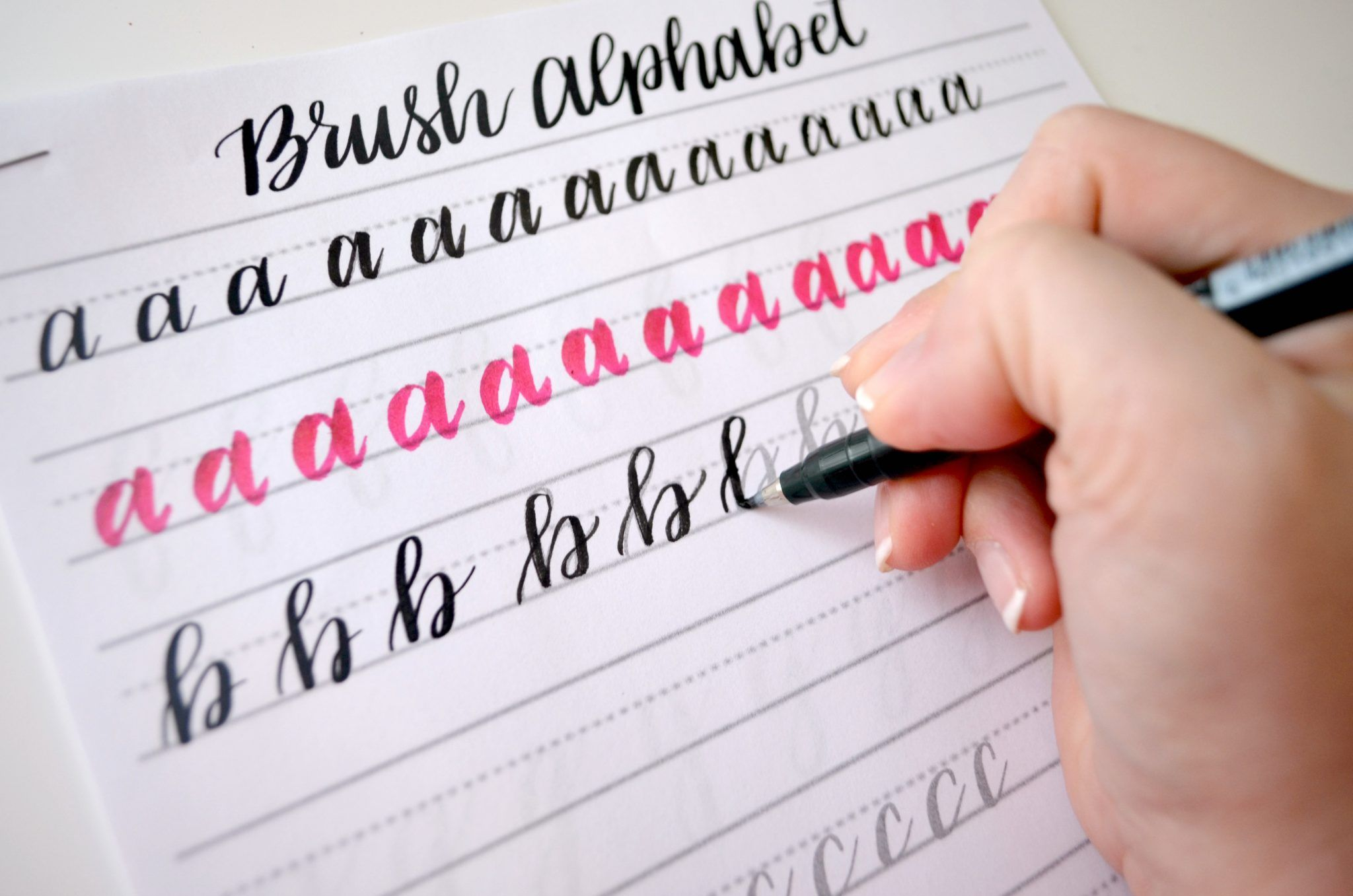 These Free Brush Lettering Practice Sheets Will Help You