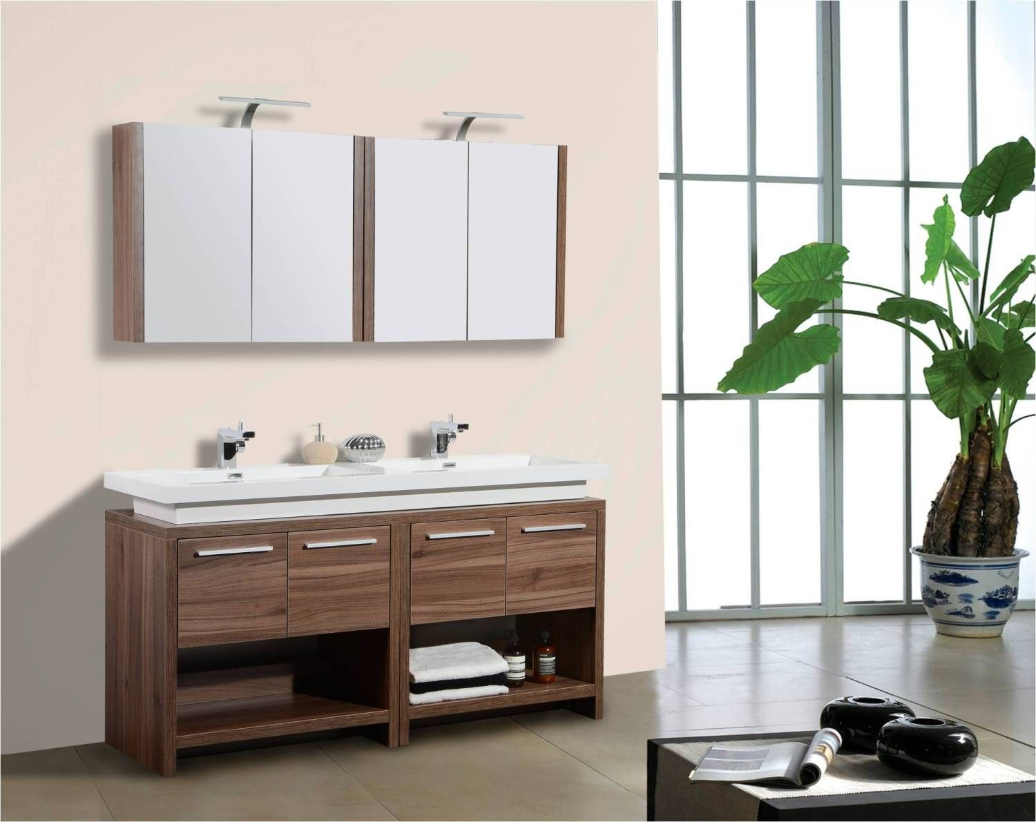 images about vanities double sink quot to quot on pinterest vanity units medicine cabinets and vessel sink bathroom: 55 inch double sink bathroom vanity