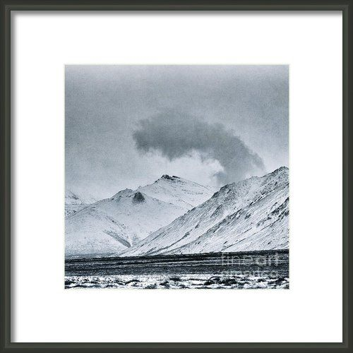 Land Shapes 17 Framed Print By Priska WettsteinThis series is work in progress, I want to show the serenity, the unforgivness, the beauty of this landscape, where humans are only tolerated, not accepted.
