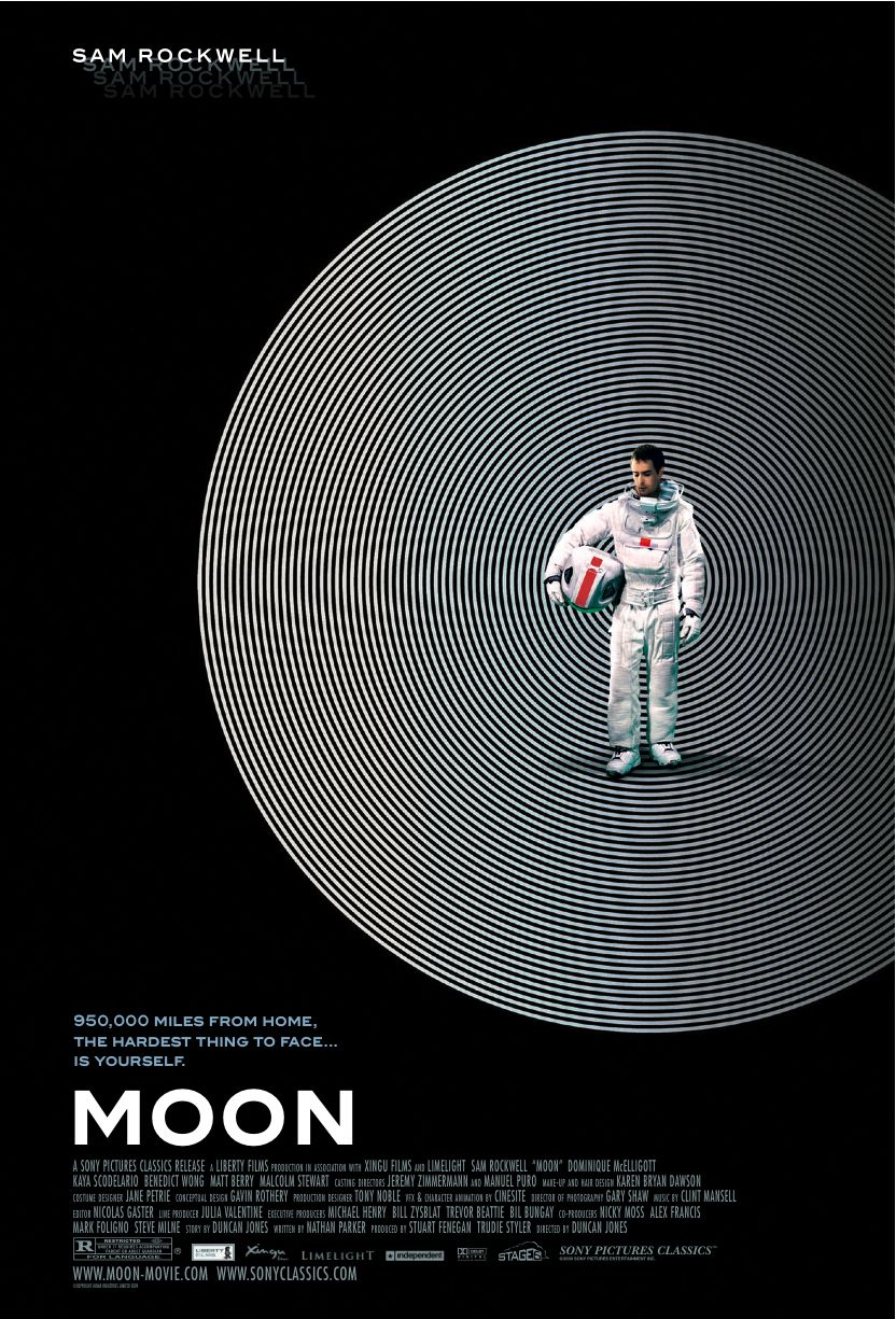 Moon is a slow, cerebral sci-fi movie...just the kind that I love. I enjoy movies about people alone in space who are going slightly crazy!