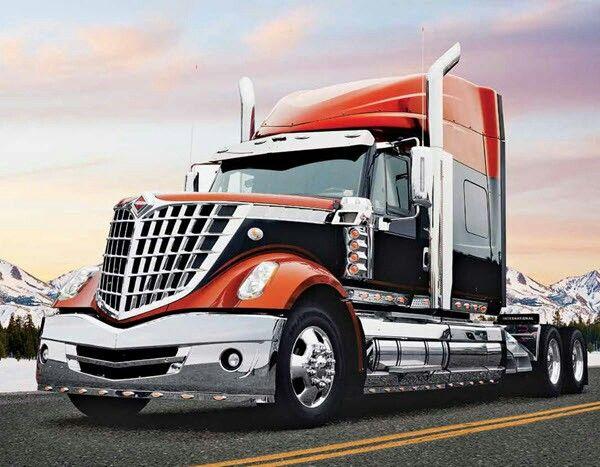 Orange and black truck | semi's | Trucks, Volvo trucks, Big rig trucks