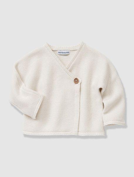 Brassière bébé coton laine Bio Collection Ivoire - vertbaudet enfant ... 31004bfea00