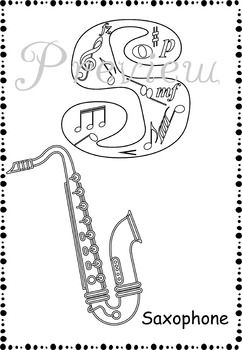 Music Alphabet Coloring Pages Distance Learning Alphabet