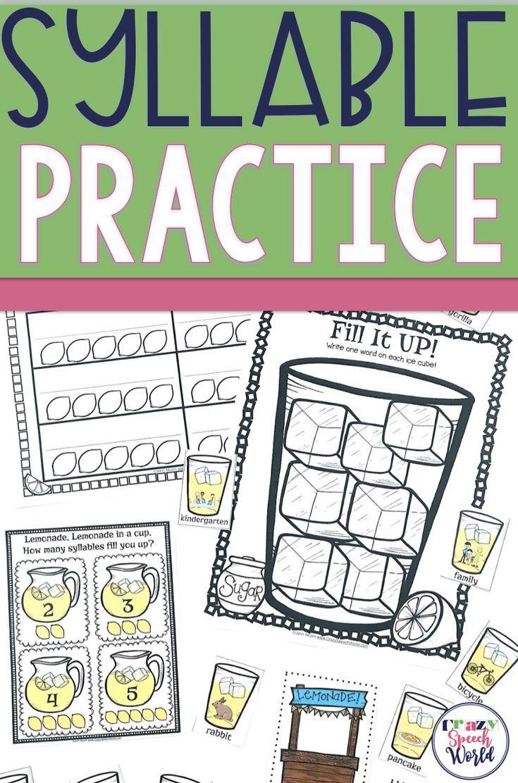 Multisyllabic Word Activities for Speech Therapy Speech