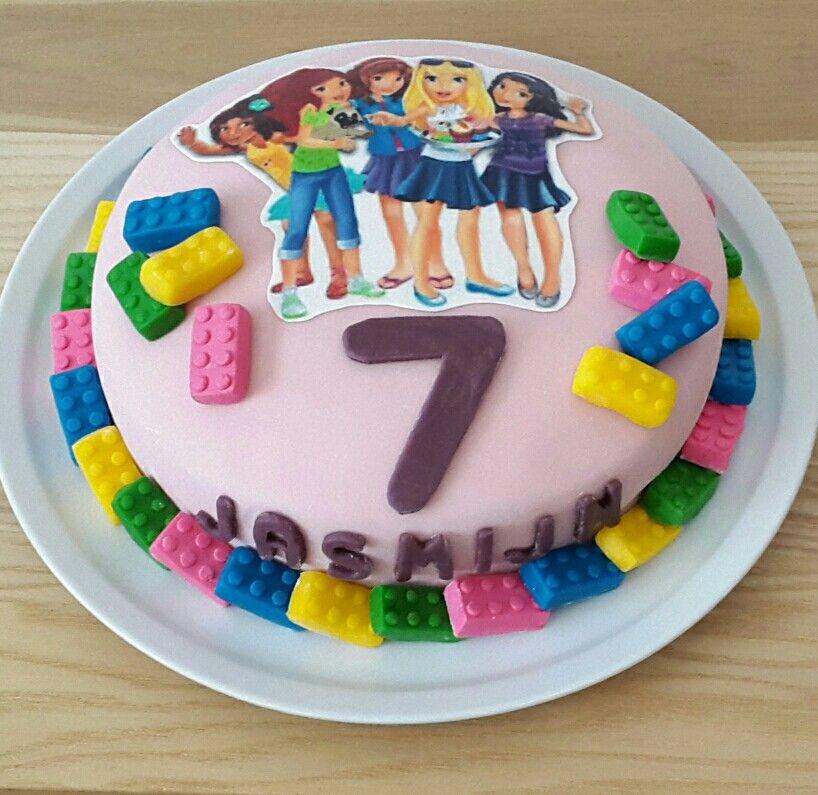 Lego Friends birthdaycake #legofriends #mia #emma #andrea #stephanie ...